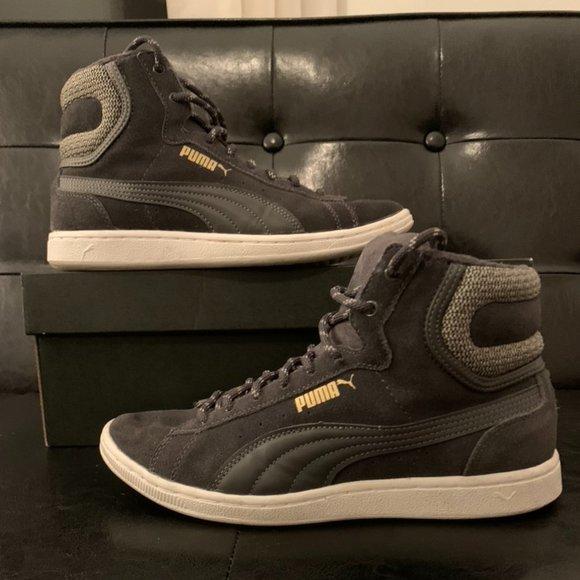 Puma Shoes   Suede High Tops   Poshmark